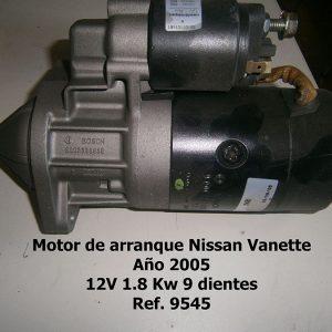 Motor de arranque Nissan